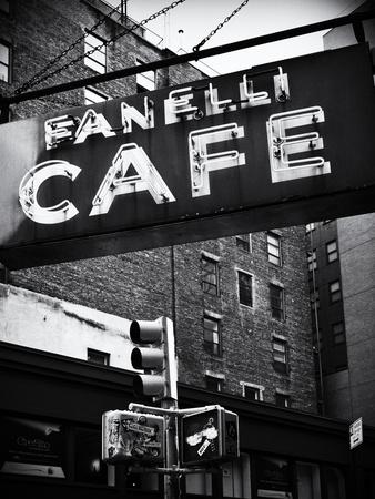 Advertising - Fanelli Cafe - Soho - Mahnattan - New York - United States Stretched Canvas Print