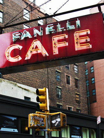 Advertising - Fanelli Cafe - Soho - Mahnattan - New York - United States Stretched Canvas Print