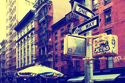 Street Scenes - Soho - Manhattan - New York - United States Stretched Canvas Print
