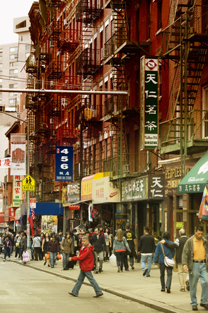 Urban Landscape - Chinatown - Manhattan - New York City - United States Stretched Canvas Print