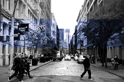 Street Scenes - Soho - Manhattan - New York - United States Stretched Canvas Print