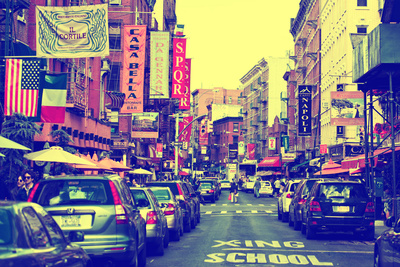 Urban Landscape - Little Italy - Manhattan - New York City - United States Stretched Canvas Print