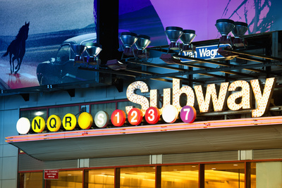 Subway Stations - Manhattan - New York City - United States Stretched Canvas Print