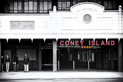 Subway Stations - Coney Island - New York - United States Stretched Canvas Print