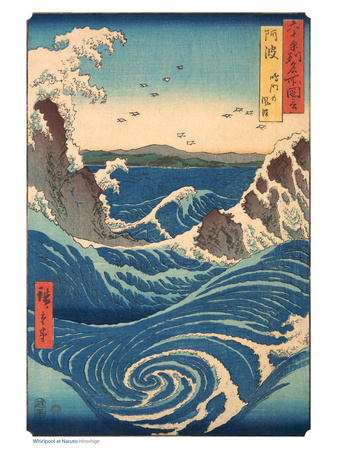 Whirlpool at Naruto Awa Province japanese art by Ando Hiroshige