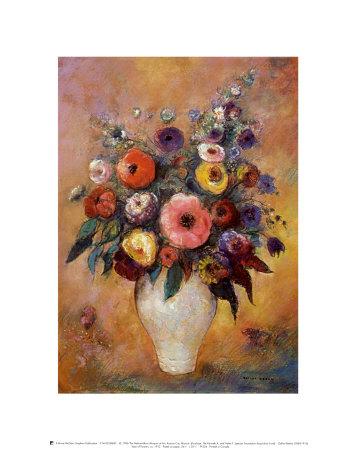 vase of flowers  1912 print