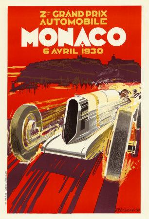 monaco grand prix  1930 print