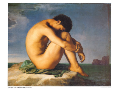 hippolyte flandrin young male nude 1855 Adult Mosquito Net good quality with best price 1size:190x135x85cm 2.