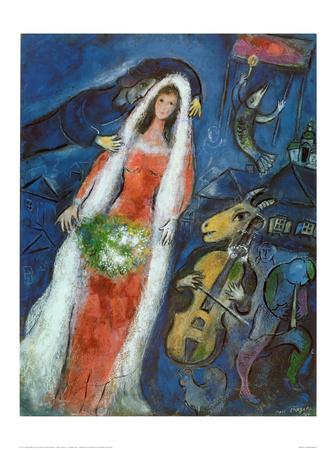 La Mariee œuvre par Marc Chagall