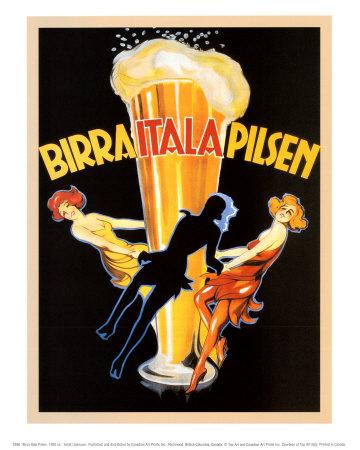 birra itala pilsen  1920 print