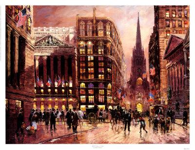 wall street  1890 print