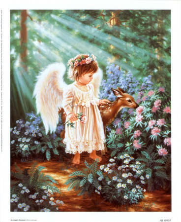 Angel's Blessing Print at Art.