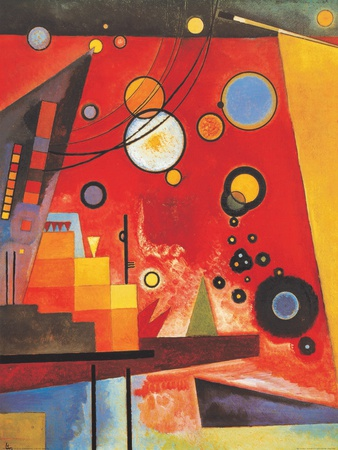 Heavy Red expressionism artwork by Wassily Kandinsky