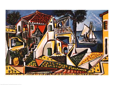 Mediterranean Landscape Pablo Picasso Art Print  $19.99