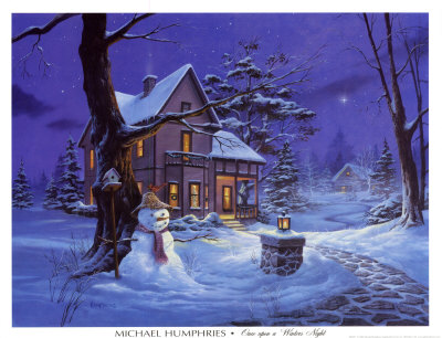 Once Upon a Winters Night Print by Michael Humphries at Art.