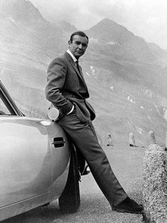 "Sean Connery. ""007, James Bond: Goldfinger"" 1964, ""Goldfinger"" Directed by Guy Hamilton Stretched Canvas Print"
