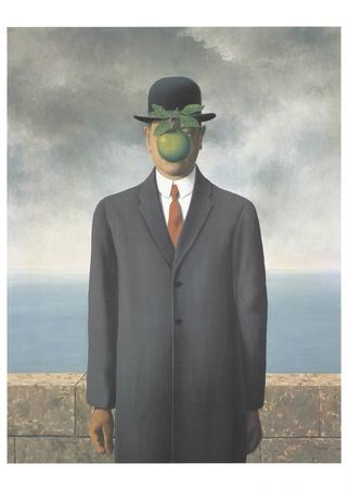 Le Fils de L'Homme (Son of Man) surrealism œuvre par Rene Magritte