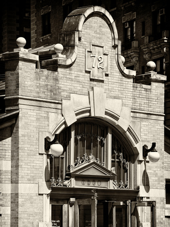 Station Entrance of 72nd Street, IRT Broadway Subway Station, Upper West Side, Manhattan, New York Stretched Canvas Print