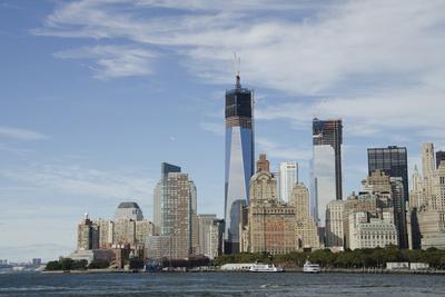 Manhattan City Skyline, New York, New York, USA Stretched Canvas Print
