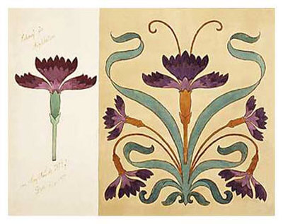 Beading patterns fillagree on pinterest art nouveau for Art nouveau shapes