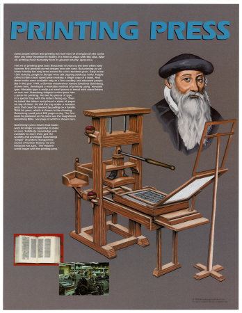 the printing press The printing press was one of the most revolutionary inventions in human history1 economists have found no evidence of the technology's impact in measures of aggregate productivity or per capita income { much as, until the mid-1990s, they.