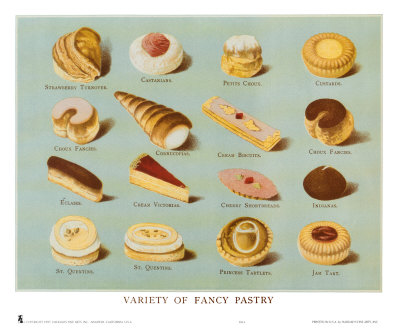 Variety of Fancy Pastry Print at Art.