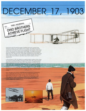 Ten Days That Shook the Nation - First Flight of the Wright Brothers Print