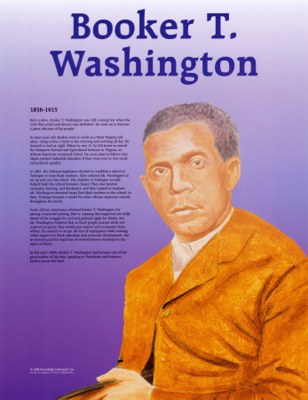 Great Black Americans - Booker T. Washington Print. zoom. view in room
