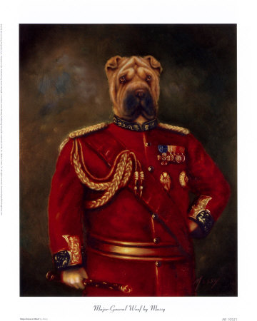 Major-General Woof Print at Art.