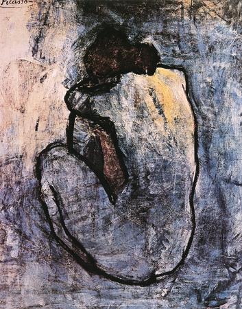 Blue Nude c1902 Pablo Picasso Art Print
