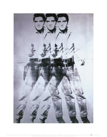 triple elvis  1963 print by