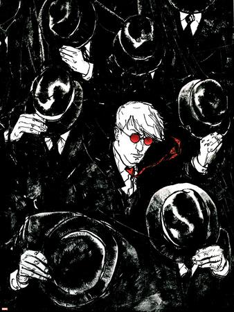Daredevil No.68 Cover: Murdock and Matt Stretched Canvas Print