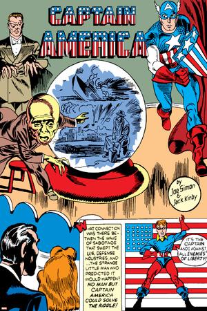 Captain America Comics No.1 Cover: Captain America, Bucky, Sando and Omar Stretched Canvas Print