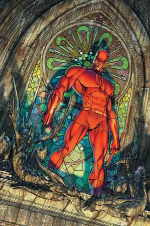 Daredevil No.100 Cover: Daredevil Stretched Canvas Print