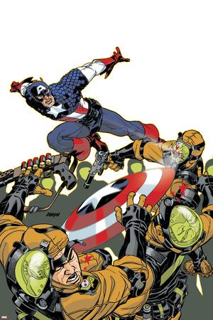 Captain America V4, No.26 Cover: Captain America Stretched Canvas Print