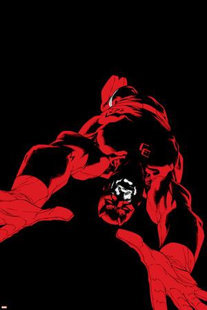 Daredevil: Father No.4 Cover: Daredevil Stretched Canvas Print