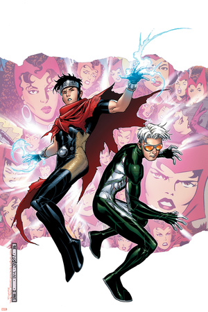 Young Avengers Presents No.3 Cover: Wiccan and Speed Stretched Canvas Print