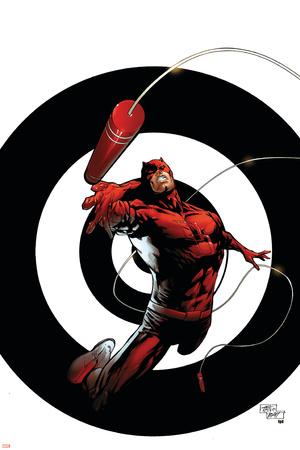 Dark Reign: The List - Daredevil No.1 Cover: Daredevil Stretched Canvas Print