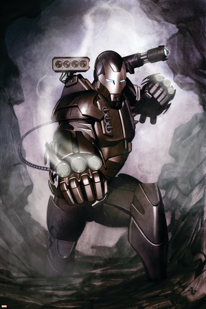 Iron Man: Director Of S.H.I.E.L.D. No.34 Cover: War Machine Stretched Canvas Print