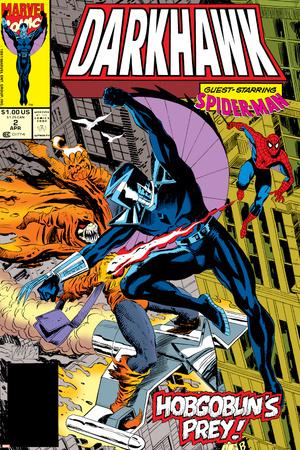 War Of Kings: Darkhawk No.2 Cover: Darkhawk, Hobgoblin and Spider-Man Stretched Canvas Print