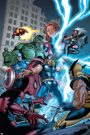 Marvel Adventures The Avengers No.31 Cover: Thor Stretched Canvas Print