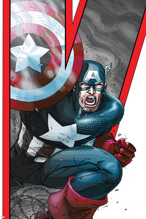 Avengers: Earths Mightiest Heroes No.2 Cover: Captain America Stretched Canvas Print