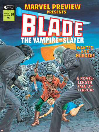 Blade The Vampire Slayer No.3 Cover: Blade Stretched Canvas Print