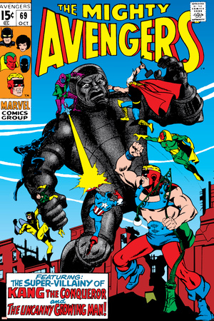 Avengers No.69 Cover: Kang Stretched Canvas Print