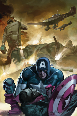 Captain America No.601 Cover: Captain America Stretched Canvas Print