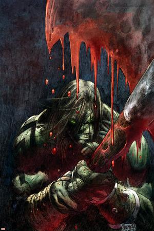 Skaar: Son Of Hulk Presents - Savage World Of Sakaar No.1 Cover: Skaar Stretched Canvas Print