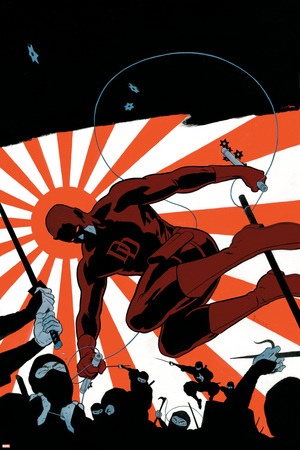 Daredevil No.505 Cover: Daredevil Stretched Canvas Print