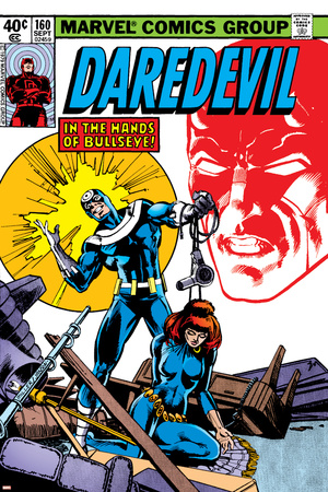 Daredevil No.160 Cover: Bullseye, Black Widow and Daredevil Charging Stretched Canvas Print
