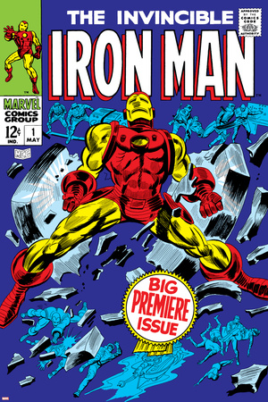 The Invincible Iron Man No.1 Cover: Iron Man Stretched Canvas Print