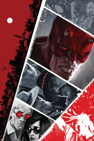 Daredevil No.104 Cover: Daredevil Stretched Canvas Print